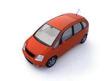Opinión superior del coche rojo multiusos Fotos de archivo libres de regalías