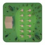 Opinión superior del colmenar representación 3d Imagen de archivo libre de regalías