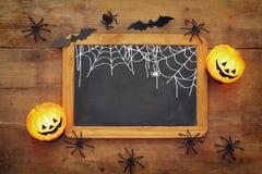 Opinión superior del concepto del día de fiesta de Halloween Imagen de archivo