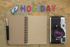 Opinión superior del concepto del planeamiento del viaje Imágenes de archivo libres de regalías