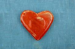 Opinión superior del corazón de cerámica Fotografía de archivo libre de regalías