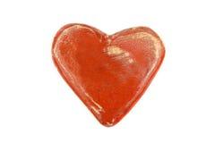 Opinión superior del corazón de cerámica Fotos de archivo libres de regalías
