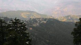 Opinión superior del dalhousie de Himachal Pradesh Imagen de archivo