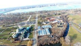 Opinión superior del descenso aéreo Belle Aisle Aquarium fotografía de archivo