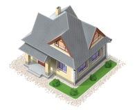 Opinión superior del edificio privado stock de ilustración
