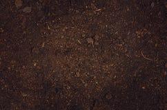 Opinión superior del jardín del suelo del fondo fértil de la textura Fotos de archivo