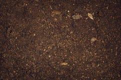 Opinión superior del jardín del suelo del fondo fértil de la textura foto de archivo libre de regalías