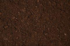 Opinión superior del jardín del suelo del fondo fértil de la textura fotos de archivo libres de regalías