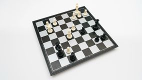 Opinión superior del juego de ajedrez almacen de metraje de vídeo