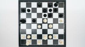 Opinión superior del juego de ajedrez metrajes