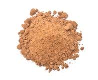 Opinión superior del lat plano del azúcar crudo marrón Fotografía de archivo libre de regalías