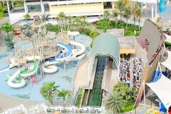 Opinión superior del parque de atracciones Foto de archivo libre de regalías