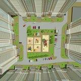 Opinión superior del patio Imagen de archivo
