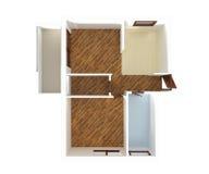 Opinión superior del plan de la casa - diseño interior Imagenes de archivo