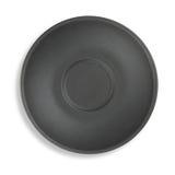 Opinión superior del plato negro imagen de archivo libre de regalías