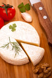 Opinión superior del queso del brie fotos de archivo