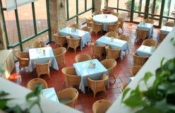 Opinión superior del restaurante Foto de archivo libre de regalías