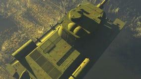 Opinión superior del tanque T 34 rusos stock de ilustración
