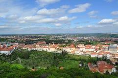 Opinión superior del tejado de la ciudad de Praga Foto de archivo