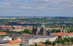 Opinión superior del tejado de la ciudad de Praga Fotografía de archivo libre de regalías