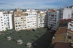 Opinión superior del tejado de la ciudad de Valencia en España Fotos de archivo
