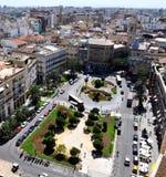 Opinión superior del tejado de Valencia Imagen de archivo