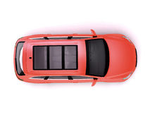Opinión superior roja de SUV Imagen de archivo libre de regalías