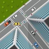 Opinión superior sobre cruce de la ciudad libre illustration