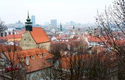 Opinión superior sobre el centro histórico de Bratislava Imagen de archivo