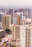 Opinión superior sobre el distrito financiero central de Nairobi del helipuerto de Kenyatta International Conference Centre Fotografía de archivo libre de regalías