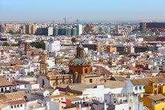 Opinión superior sobre la ciudad de Sevilla Fotos de archivo libres de regalías