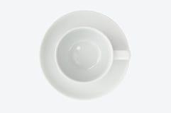 Opinión superior vacía de la taza de café Fotografía de archivo libre de regalías
