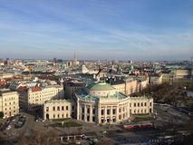 Opinión superior Wien de los edificios históricos fotografía de archivo libre de regalías