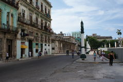 Opinión típica de la calle en La Habana Fotografía de archivo
