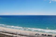 Opinión Tarragona de la playa Fotos de archivo