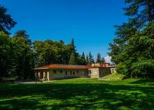 Opinión trasera del palacio de Telavi Tsinandali imágenes de archivo libres de regalías