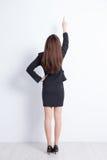 Opinión trasera la mujer de negocios Foto de archivo