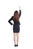 Opinión trasera la mujer de negocios Imagen de archivo libre de regalías