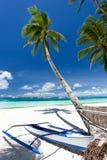 Opinión tropical de la playa Fotos de archivo