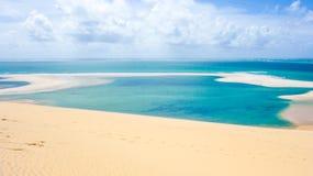 Opinión tropical del archipiélago de Bazaruto Foto de archivo libre de regalías