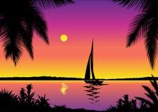 Opinión tropical del mar libre illustration