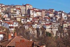 Opinión Veliko Turnovo de la ciudad Fotos de archivo libres de regalías