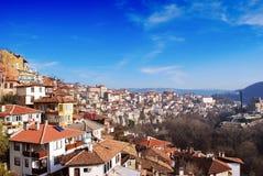 Opinión Veliko Turnovo de la ciudad Imagen de archivo