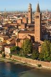 Opinión Verona - Véneto Italia Fotos de archivo