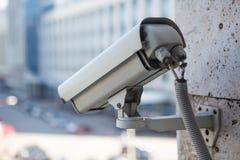 Opinión video del primer de la cámara de vigilancia Fotos de archivo
