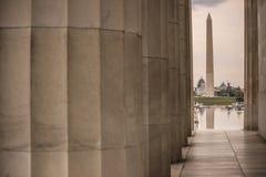 Opinión Washington Monument Imágenes de archivo libres de regalías