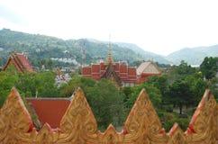 Opinión Wat Chalong Temple foto de archivo libre de regalías