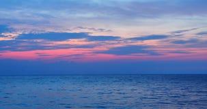 Opinión y nubes del mar después de la puesta del sol imágenes de archivo libres de regalías