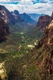 Opinión Zion National Park del top de aterrizaje de Angel's, Utah, los E.E.U.U. Fotos de archivo libres de regalías