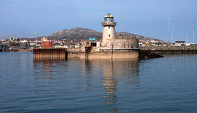 Opiniónes alrededor del puerto de Holyhead fotografía de archivo libre de regalías